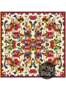 201603_FionaK_Silk_scarf_girls-on-fire_SOLDOUT